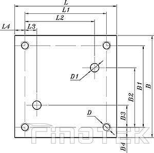2-Way-การควบคุมการไหลวาล์ว 2FRM ติดตั้งมิติ