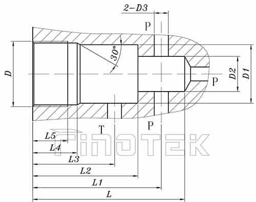 Direct-Operated-Pressure-Relief-Valve-Installation-Dimensions