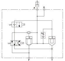 Hidrolik Kontrol Vanası Manifoldu sembolü