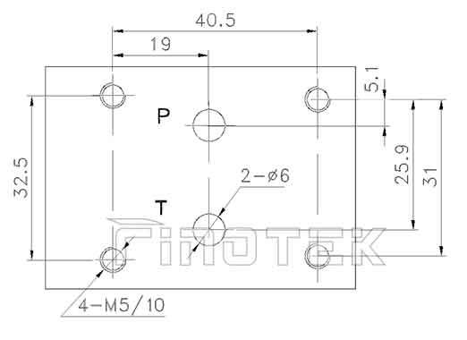 Hydraulic-Proportional-Druckregelventil-Installation-Dimensionen