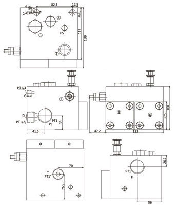 Hydrauliques Valve Manifold Bloc Dimensions
