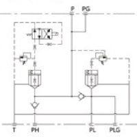 Hidrolik-Vana-Manifold-Blok-sembol