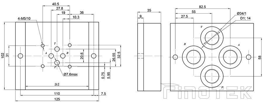 502 / 01 (G1 / 2); G502 / 02 (M22X1.5) Kích thước
