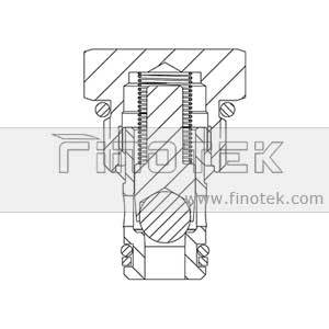 CV08-20 Check Cartridge Valve Structure