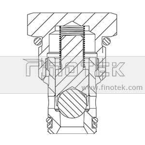 Valvola di ritegno a cartuccia idraulica a sfere CV10-20