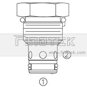 Profilo della valvola di controllo della cartuccia CV10-21