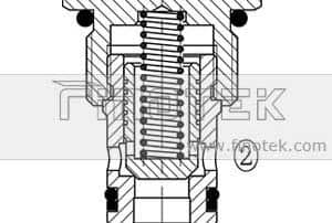 CV10-21 Check Cartridge Valve Structure