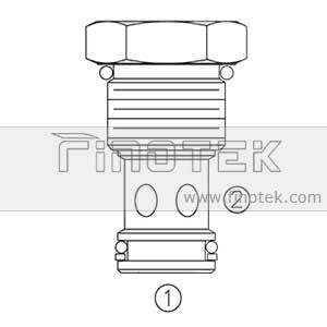 CV12-20 Hydraulic cartridge check valve Profile