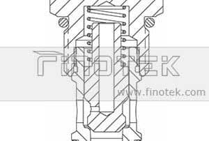 CV12-20 Hydraulic Check Cartridge Valve Structure