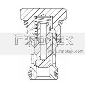 CV12-20 Poppet Type Hydraulic Periksa Cartridge Valve