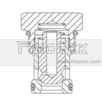 CV16-20 나사에서 유압 카트리지 밸브 구조 확인
