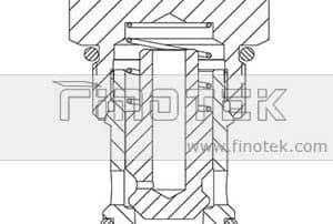 CV16-20 Screw-In Hydraulische Testkartusche Ventilstruktur