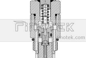 Cartridge-Pressure-Relief-Ventil-Inner-Struktur