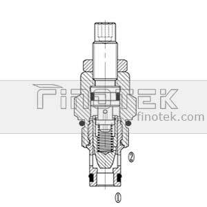 FC08-00 Hydraulic cartridge flow valveStructure