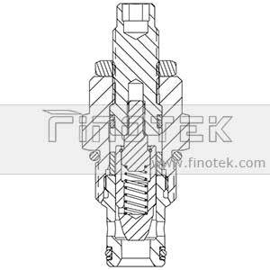 โครงสร้าง FC10-20 Flow Control Valve Cartridge