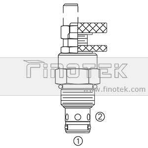 FC10-20 Flow Control Valve Cartridge