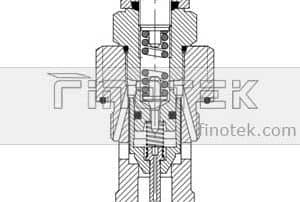 Hydraulic-Relief-Cartridge-Valve-Inner-Structure