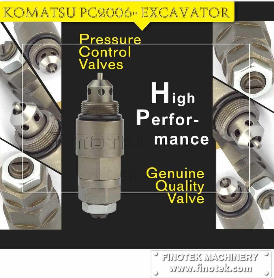 Komatsu PC200-6 Graafmachine, Drukontlastings- Control, service Valve