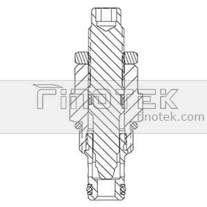 NV08-20-Flow-ajustare-Cartridge-Valve-Inner-Structură