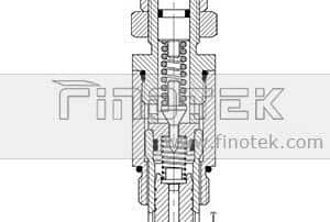 Pilot-Check-Relief-Cartridge-Van Inner Structure