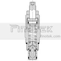 Pilota-Operated, -Cartridge-Relief-valvola-C-10-2-Cavity-Inner-Struttura