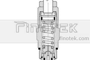 Pilot-Operated,-Cartridge-Relief-Valve-C-10-2-Cavity-Inner-Structure
