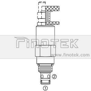 RV08-22 Basınç Kontrol Tahliye Kartuş valfi