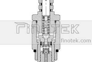 Tornillo-En-de alivio de presión-Válvula-Interior-Estructura