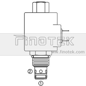 Электромагнитный-картридж клапана sv10-21