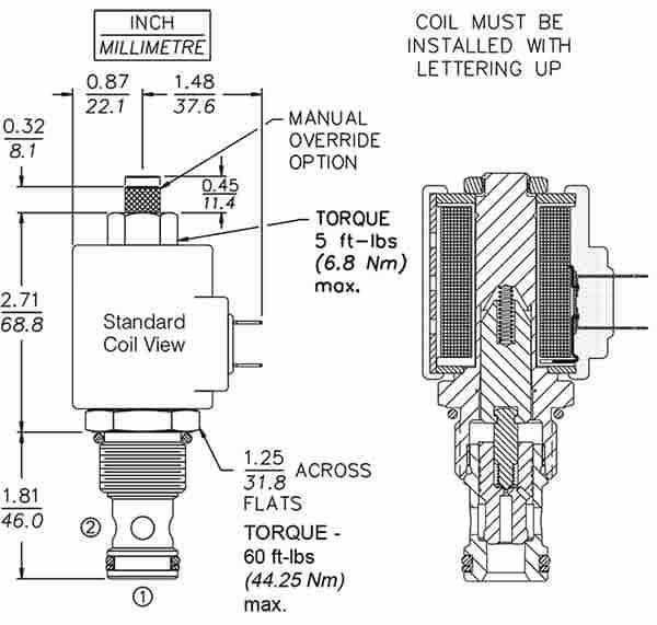 solenóide-cartucho-válvula-sv12-20-dimensões