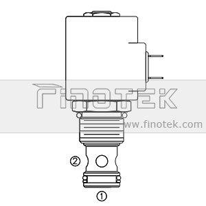 SV12-20, 2-Way, 포펫 유형, 평상시 닫힘, 카트리지 솔레노이드 밸브
