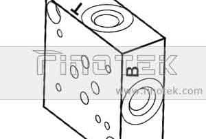 SP6S Side dialihkan Valve Subplate,