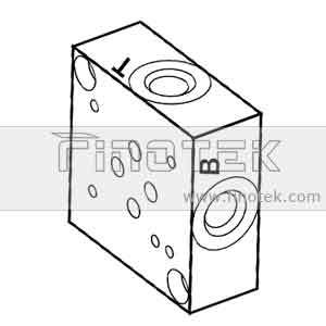 SP6S Side Ported Valve Subplate, Cetop3, D03, Size 6 Hydraulic Valve Subplate